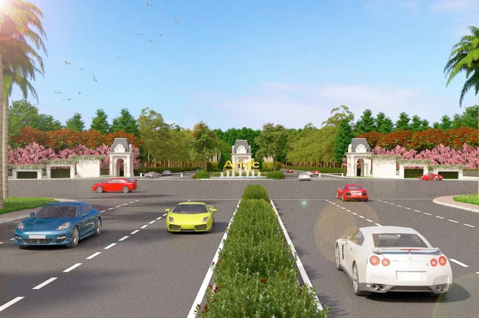 Giao thông thuận tiện từ khu đô thị Vân Canh An Lạc
