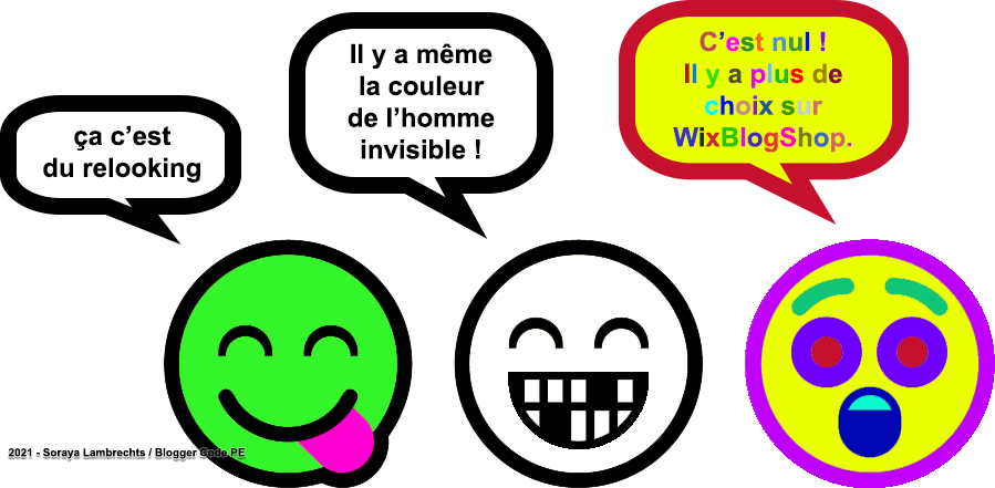 Blogger Humour - Les smileys colorifiques.