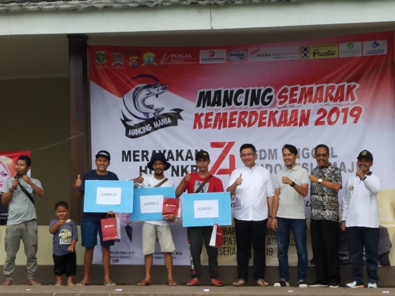 Humas Polda Banten hadiri lomba mancing semarak kemerdekaan Pokja Wartawan