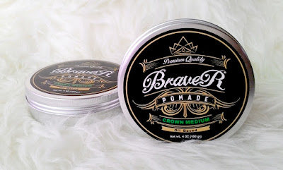 Premium Quality Pomade Braver Crown Medium Oil Based Greendark 4oz