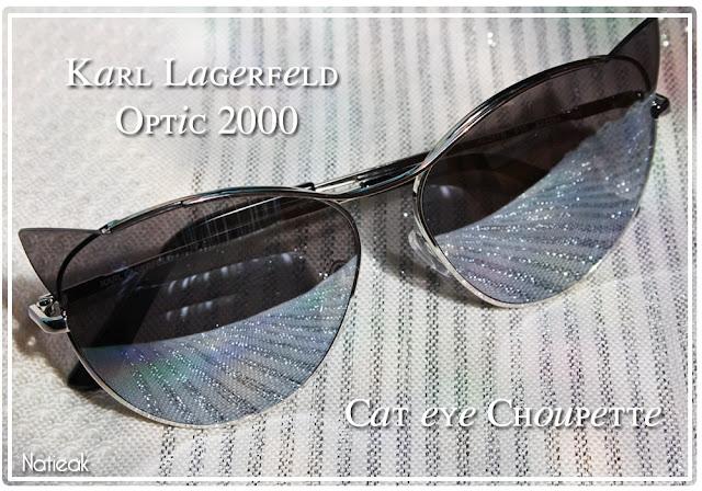 lunettes de soleil œil de chat de Karl Lagerfeld pour Optic 2000