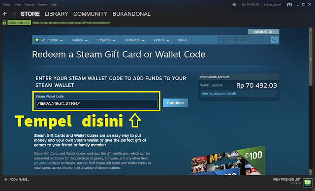 Paste Steam Wallet