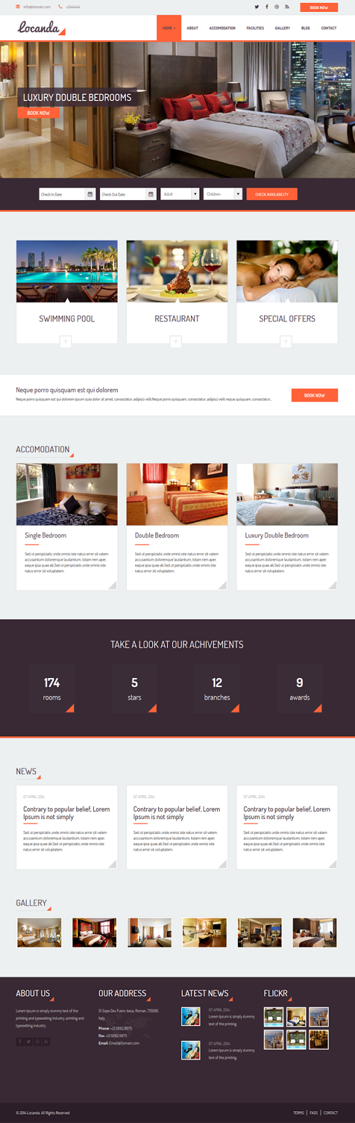 Responsive Hotel Template