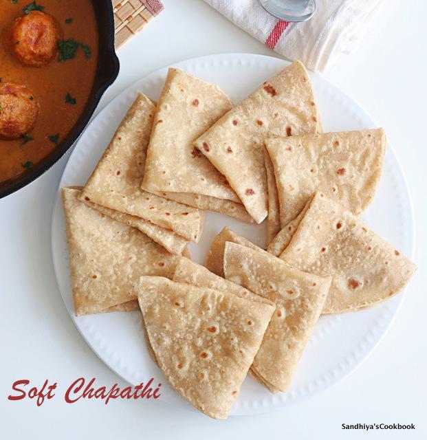 Chapati, Roti, Soft Chapati
