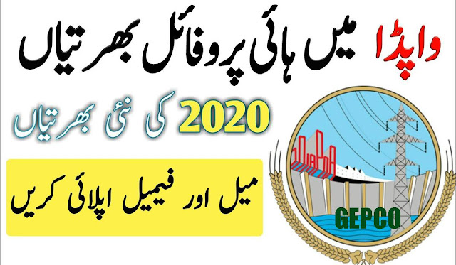 Wapda High Profile Vacancy 2020 Apply Now