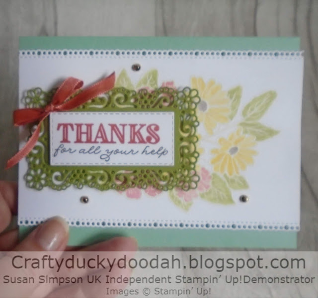 Craftyduckydoodah!, Ornate Style, Ornate Thanks, Stampers Showcase Blog Hop, Susan Simpson UK Independent Stampin' Up! Demonstrator, Supplies available 24/7 from my online store, Emboss Resist Technique,
