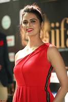 Meenakshi Dixit in Red One Shoulder Red Zipped up gown at IIFA Utsavam Award 62.JPG