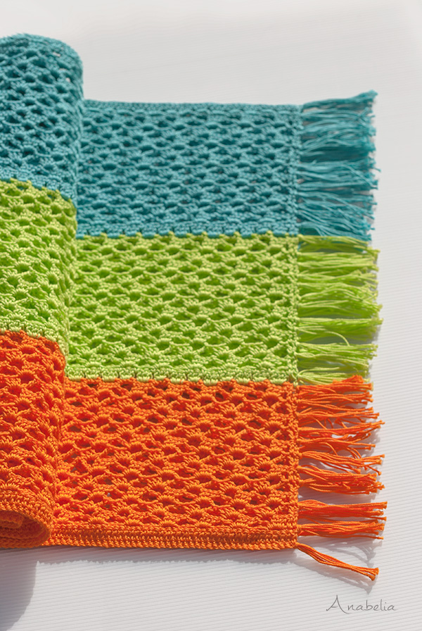 Light Summer crochet scarf pattern, Anabelia Craft Design