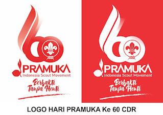 Logo HUT Pramuka ke 60 PNG
