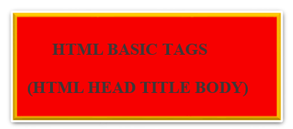 HTML BASIC TAGS(HTML HEAD TITLE BODY)