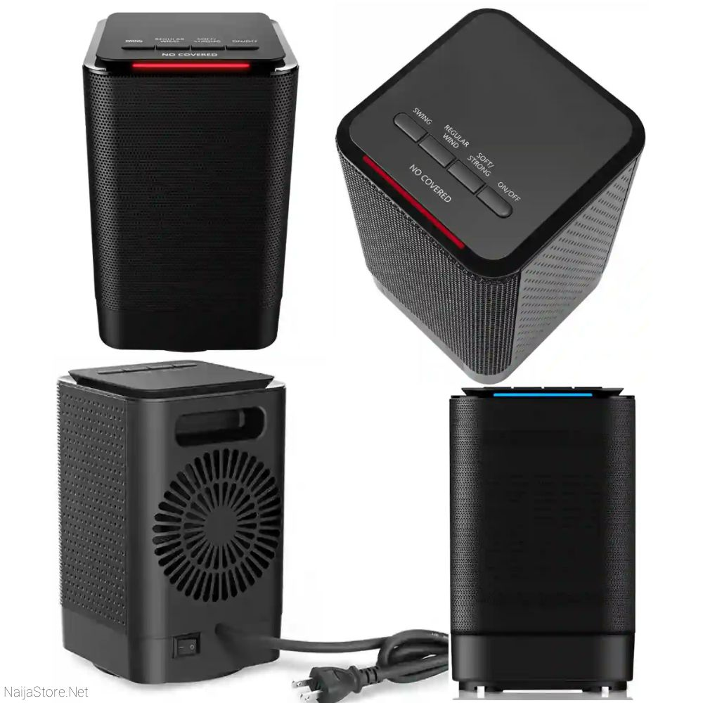 Mini Electric Heaters by  Bigin (Oittm) - Personal Compact Ceramic Heater with Adjustable Thermostat for Indoors