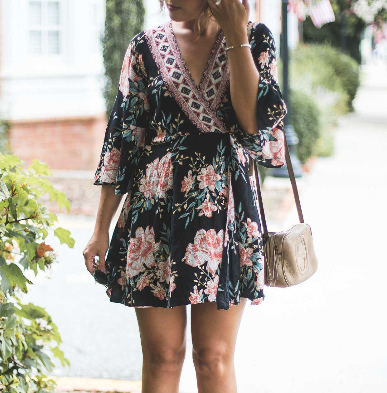 Billabong Divine Floral Dress, gucci soho disco, boho dress, floral dress