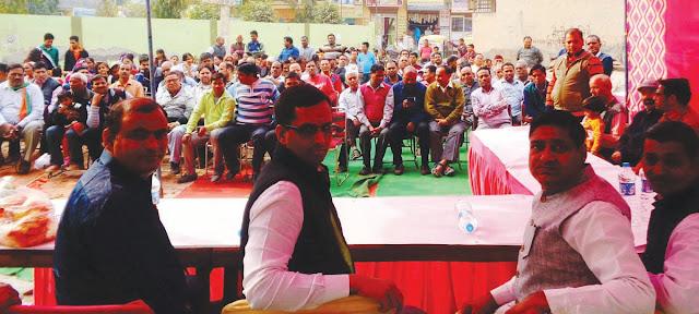 Senior Deputy Mayor Devendra Chaudhary inaugurated 62 lakh development works in Surya Vihar Colony