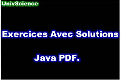 Exercices Avec Solutions Java PDF.