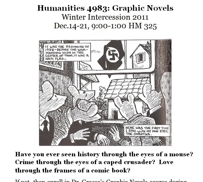 ecu english talk: Graphic Novels During Winter Intercession?