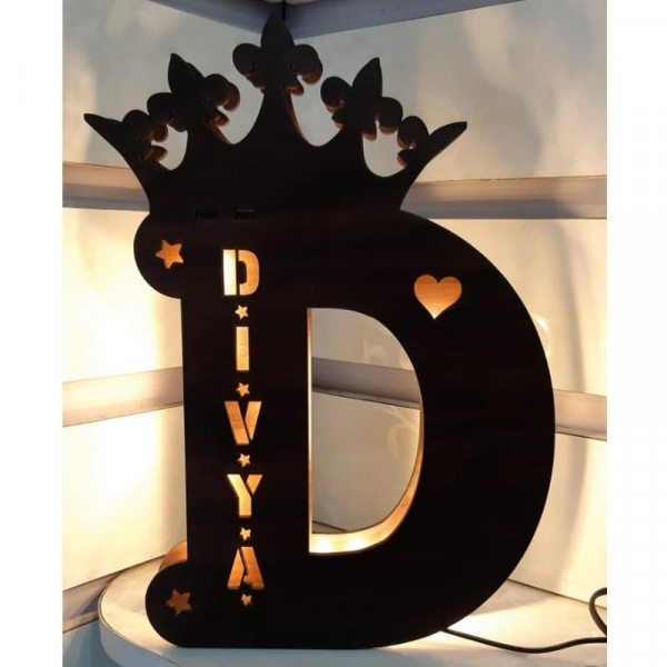 A To Z Initial Wooden Name Board