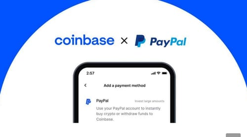 With Coinbase you can easily buy cryptocurrencies with PayPal