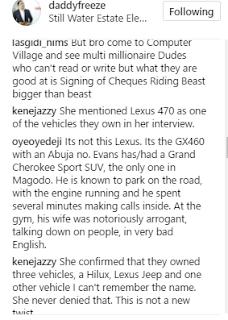 Freeze reveals his kids attends same school as billionaire Kidnapper, Evans's kids