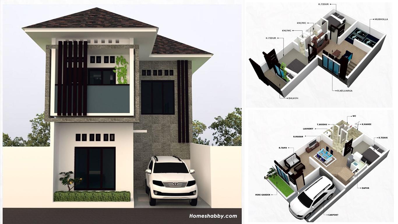 53+ Desain Rumah Minimalis Bentuk L HD