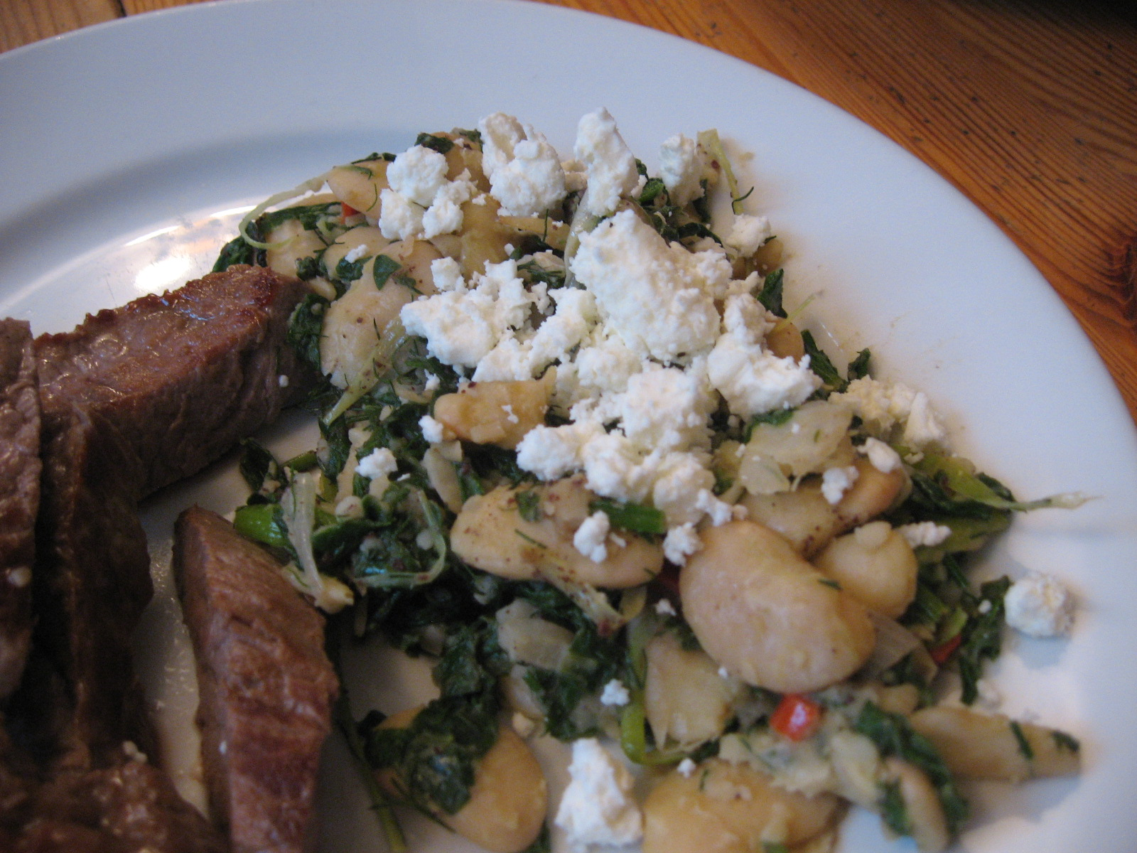 ... Fried Butterbeans with feta, spinach and sumac (Yotam Ottolenghi
