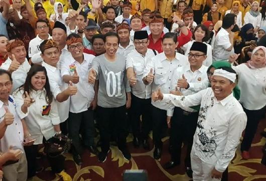 Jokowi Sebut Tak Sulit Raih Kemenangan di Jabar