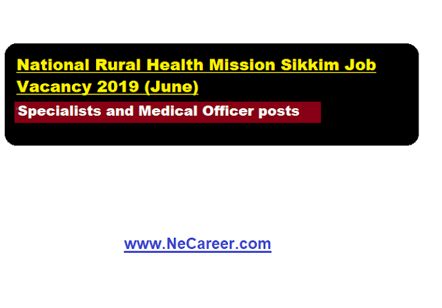 nrhm sikkim vacancy 2019 june