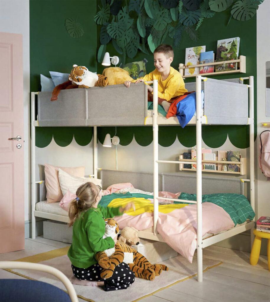 catálogo ikea 2020 novedad litera estructura blanca dormitorio niños