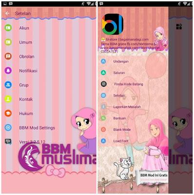 Download BBM Tema Muslimah Versi terbaru  BBM Mod Muslimah Soft Color v3.2.5.12 Apk Full Free  (Clone/Unclone) Terbaru 2017
