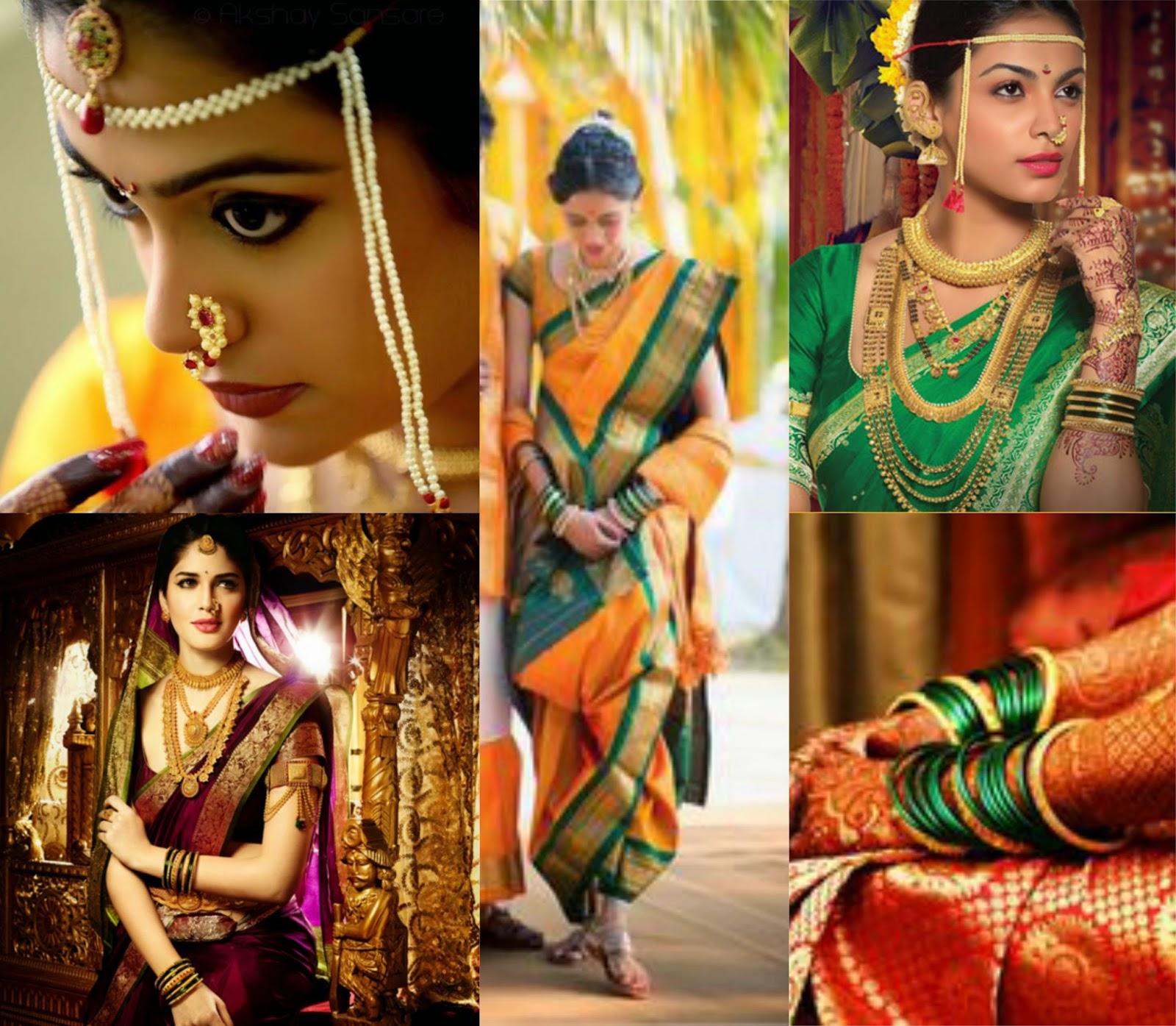 Wedding Hairstyle Maharashtrian: Wedding Saree Drapes