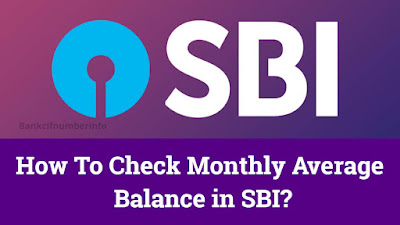 Check monthly average balance in SBI