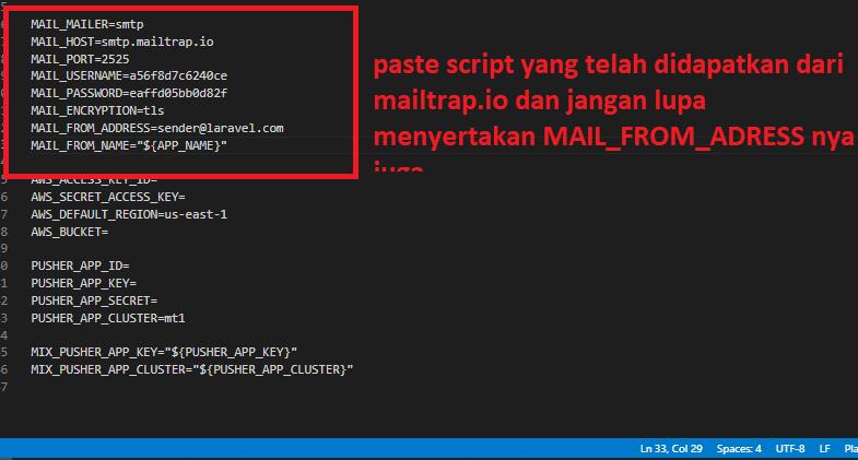 Mengirim email di laravel