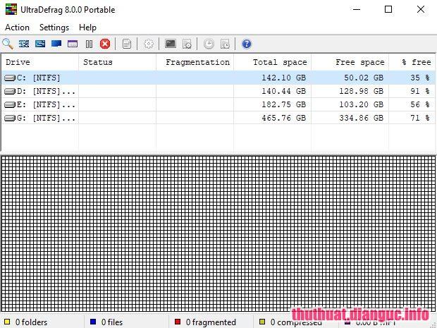 Download UltraDefrag 8.0.0 Full Cr@ck - Phần mềm chống phân mảnh ổ cứng