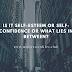 Is it Self-Esteem or Self-Confidence or what lies in between?