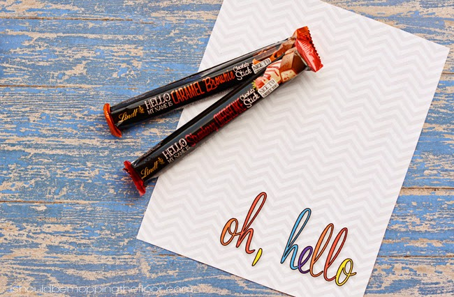 Oh, Hello Printable | Inspired by chocolate bars!