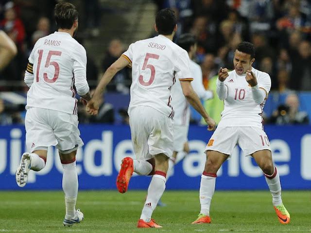 Prancis Ditaklukkan Spanyol 0-2