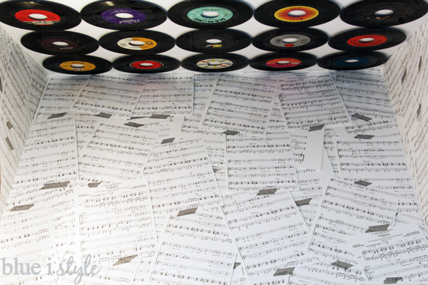Sheet music collage