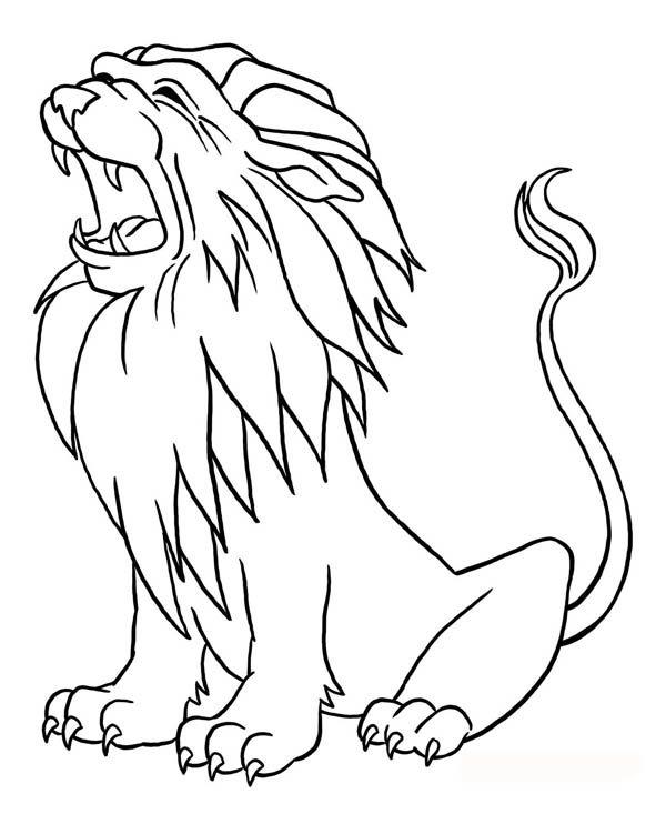 Lion smart coloring page 5