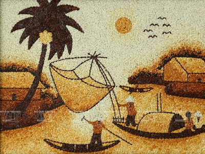 Impressive Rice Grain Paintings.