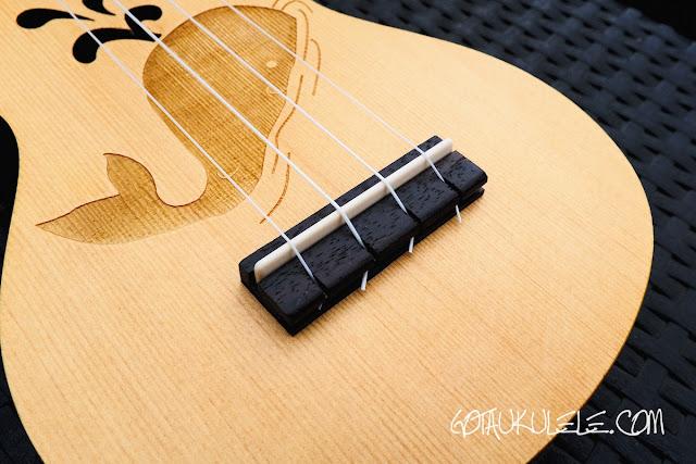 kahuna laser etched soprano ukulele bridge