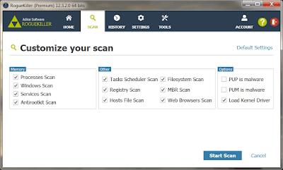 Screenshot RogueKiller Anti-Malware 12.12.3.0 Full Version