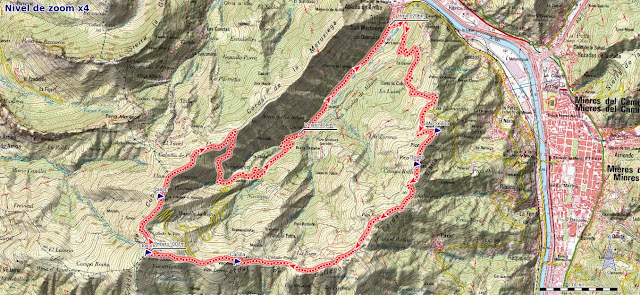 Mapa de la ruta Ablaña Llosorio