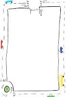 Vej og bil brevpapir