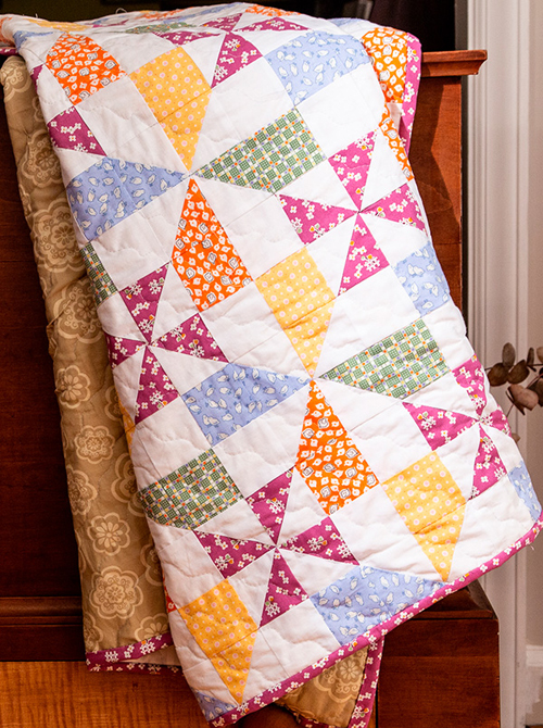 Double Windmill Quilt - Free Pattern