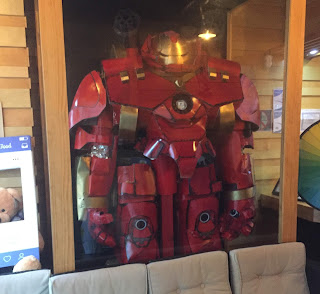 Hulkbuster cosplay costume in Yamitsuki Ramen at Philadelphia, PA