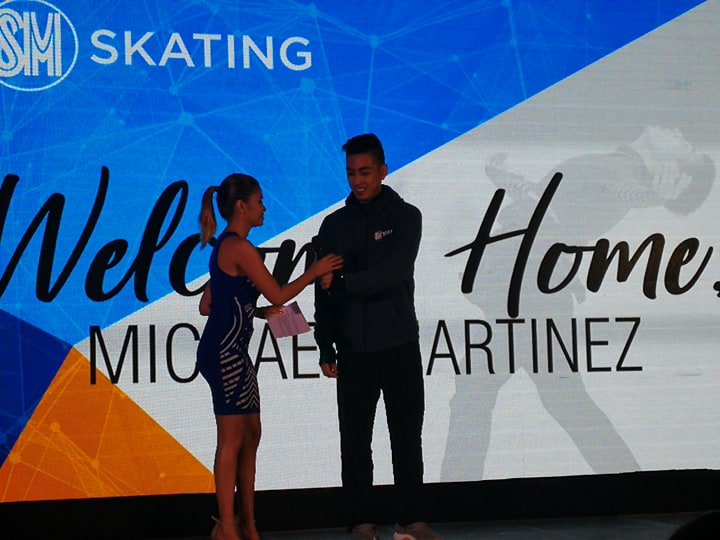 53369f0a5a27 SM Lifestyle Entertainment Inc., welcomes Olympian Filipino Figure Skater  Michael Martinez in Olympic size SM Skating rink at SM MOA on Feb 22,2018.