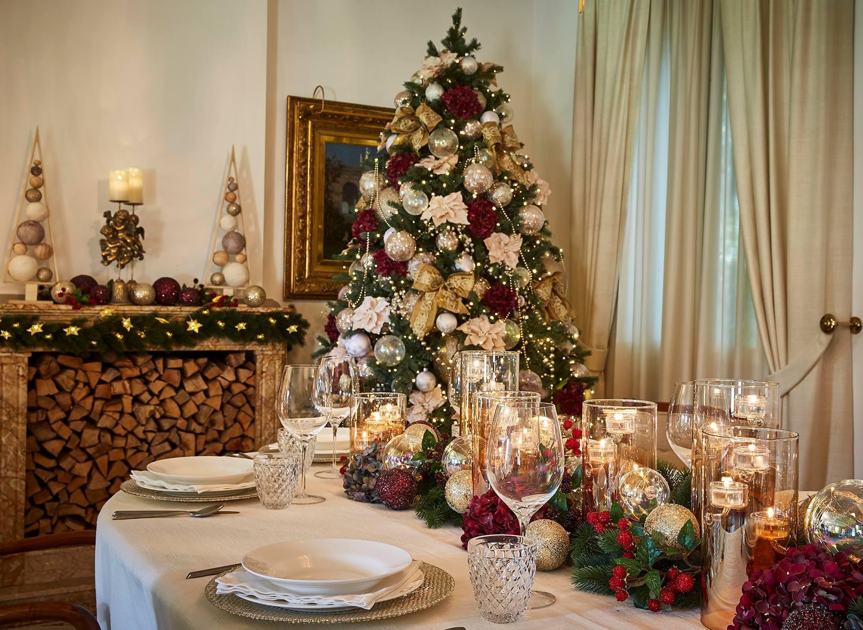 decoración de árbol en navidad