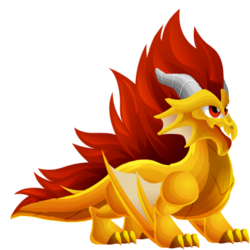 Appearance of Crest Dragon when teenager
