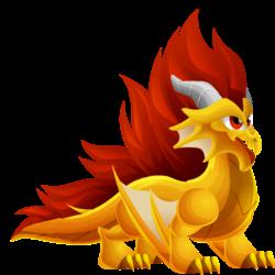 Dragon Crête apparence jeune