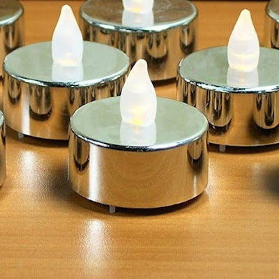 Silver LED Smokeless Candle / Lilin LED Silver