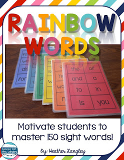 Teaching sight words in kindergarten or first grade? These printables are easy to use whether you like Dolch or another sight word list. Includes leveled words, flashcards, activities, and ideas to use in the classroom or to send in a homework folder. Get the extra practice your students need with these great word activities!  #kindergarten #tpt #kindergartenclassroom #firstgradeclassroom